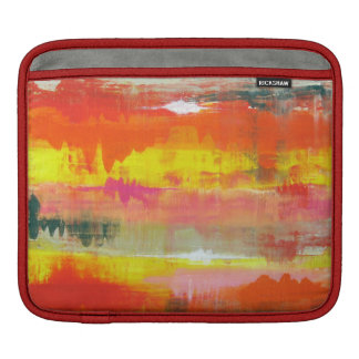 Goovy Red Orange Yellow Abstract No. 155 Sleeve For iPads