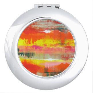 Goovy Red Orange Yellow Abstract No. 155 Vanity Mirror