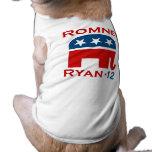 GOP 2012 DE ROMNEY RYAN CAMISA DE MASCOTA