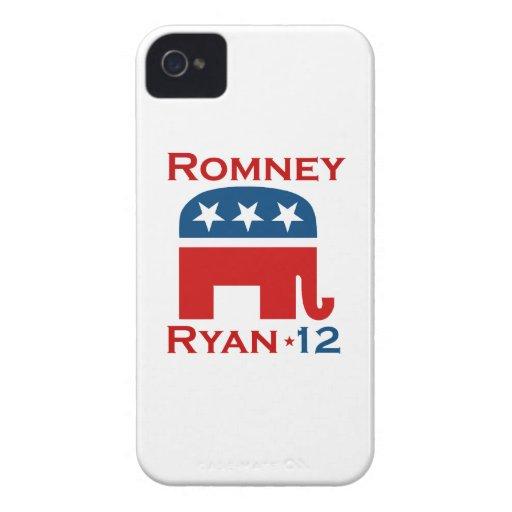 GOP 2012 DE ROMNEY RYAN iPhone 4 FUNDAS