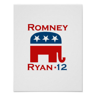 GOP 2012 DE ROMNEY RYAN POSTER