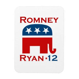GOP 2012 DE ROMNEY RYAN RECTANGLE MAGNET