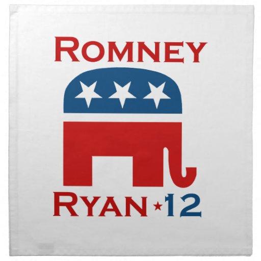 GOP 2012 DE ROMNEY RYAN SERVILLETAS DE PAPEL