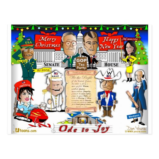 GOP and Tea Party Christmas Postcards