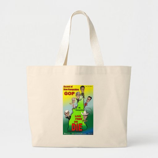 GOP Ascent of New Hampshire Canvas Bags