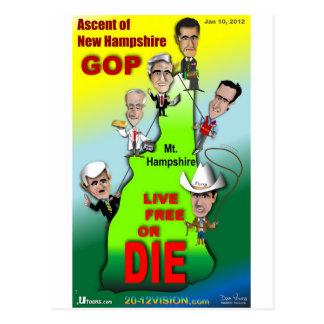 GOP Ascent of New Hampshire Postcard