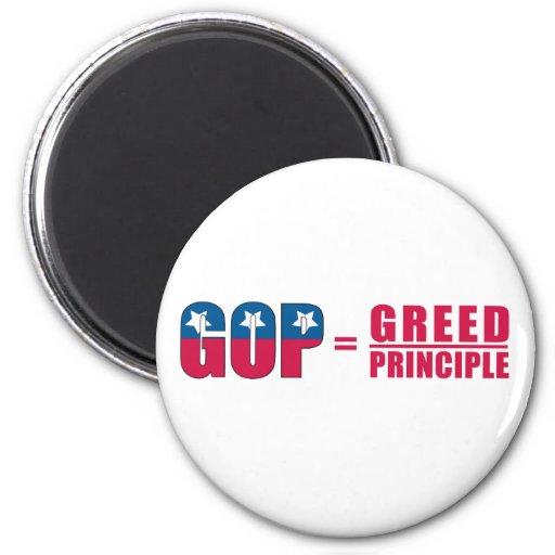 GOP = avaricia sobre los imanes del principio Imanes Para Frigoríficos