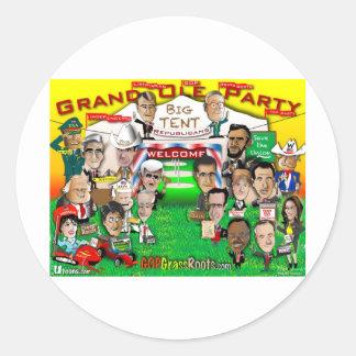 GOP Big Tent Classic Round Sticker
