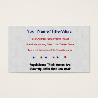 GOP Blow-Up Dolls Business Card
