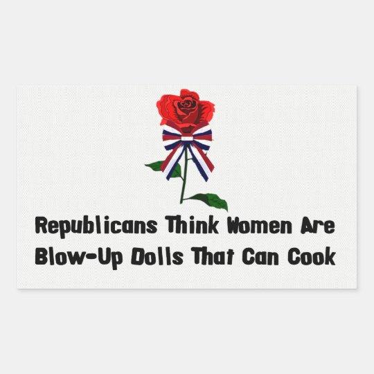 GOP Blow-Up Dolls Rectangular Sticker
