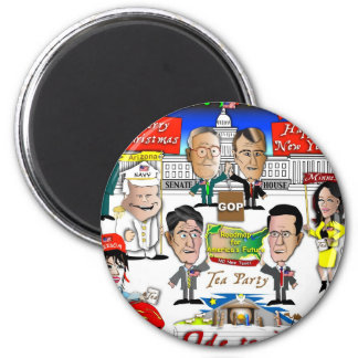 GOP Christmas 2 Inch Round Magnet