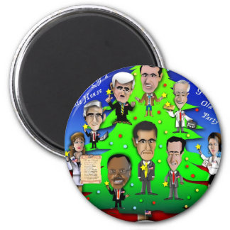 GOP Christmas Tree 2 Inch Round Magnet