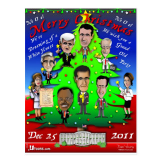 GOP Christmas Tree Postcard