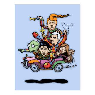 GOP Clown Car '16 Postcard