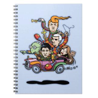 GOP Clown Car '16 Spiral Notebook