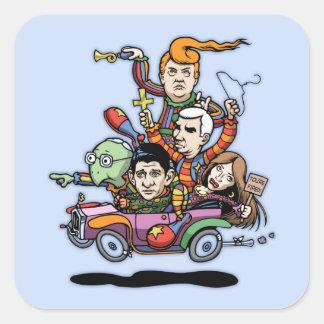 GOP Clown Car '16 Square Sticker