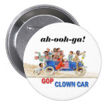 GOP Clown Car Pinback Button