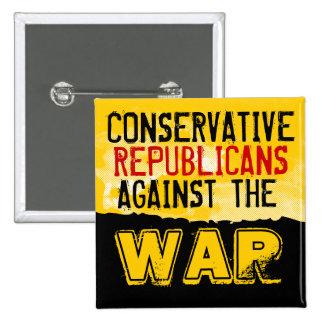 GOP conservador contra el botón de la guerra Pins