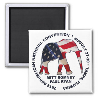 GOP Convention - Romney Ryan 2 Inch Square Magnet