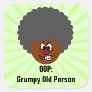 GOP del voto de los votantes del jubilado: Pegatina Cuadrada