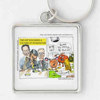 GOP Discovers Culture Of Intimidation Funny Keychain