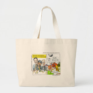 GOP Discovers Culture Of Intimidation Funny Large Tote Bag