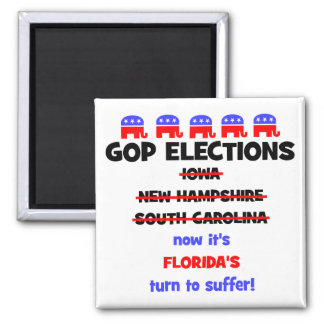 GOP elections 2 Inch Square Magnet