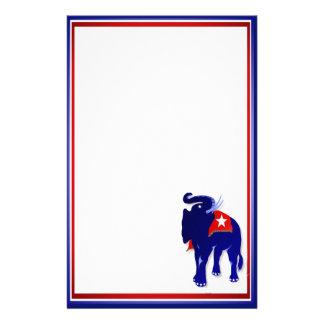 "GOP Elephant  5.5"" x 8.5"" Stationery"