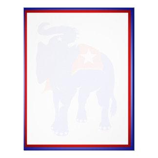 """GOP Elephant 8.5"""" x 11 Letterhead"""