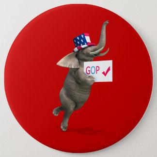 GOP Elephant Button