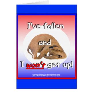 GOP elephant: 'I've fallen & I won't get up!' Card