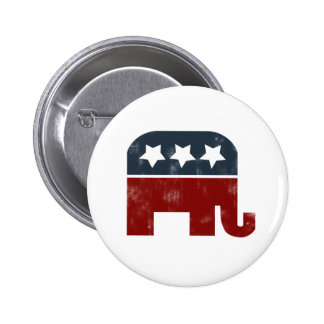 GOP elephant logo 2 Inch Round Button