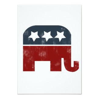 GOP elephant logo Card