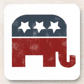 GOP elephant logo Beverage Coasters