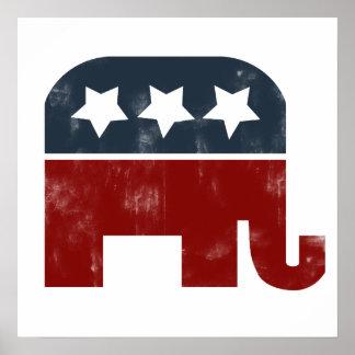 GOP elephant logo Print