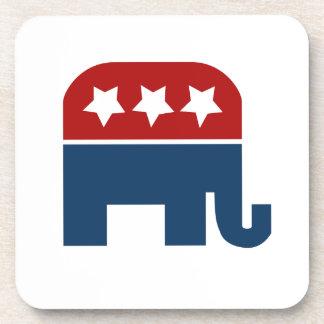 GOP elephant Logo republican design Beverage Coasters