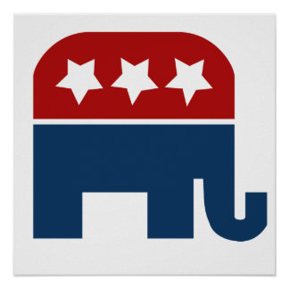 GOP elephant Logo republican design Poster