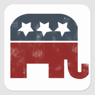 GOP elephant logo Square Sticker