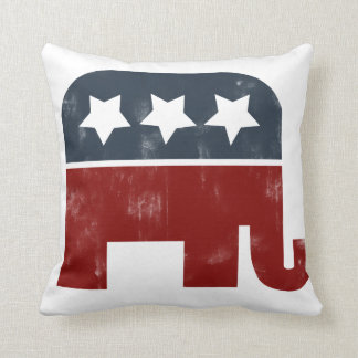 GOP elephant logo Throw Pillow