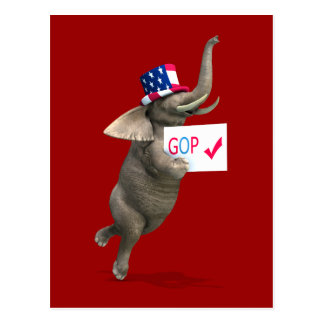 GOP Elephant Postcard