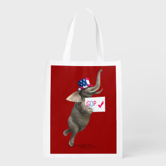GOP Elephant Reusable Grocery Bag