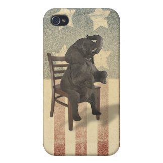 GOP Elephant Takes Over the Chair Funny Election iPhone 4/4S Cases
