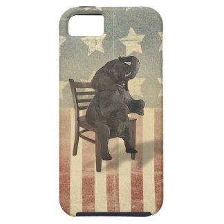 GOP Elephant Takes Over the Chair Funny Political iPhone 5 Cover