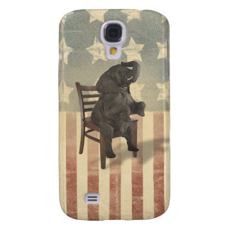 GOP Elephant Takes Over the Chair Funny Political Galaxy S4 Cases