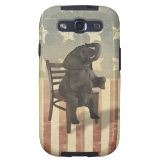 GOP Elephant Takes Over the Chair Funny Political Samsung Galaxy SIII Case