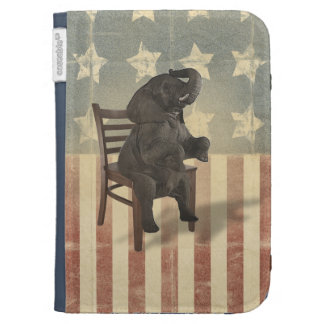 GOP Elephant Takes Over the Chair Funny Political Kindle Cover