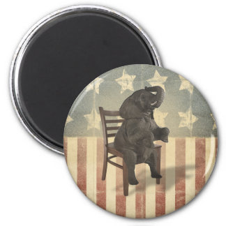 GOP Elephant Takes Over the Chair Funny Political Magnets