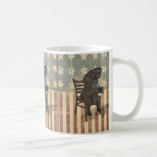 GOP Elephant Takes Over the Chair Funny Political Classic White Coffee Mug
