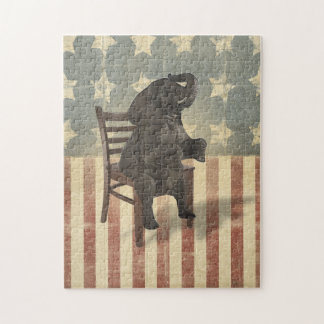 GOP Elephant Takes Over the Chair Funny Political Puzzles