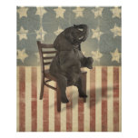 GOP Elephant Takes Over the Chair Funny Politics Poster